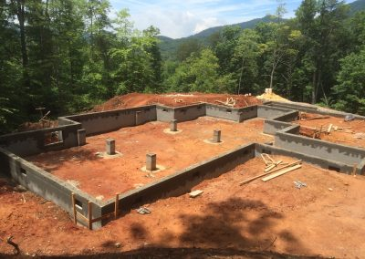 Lorenson-Footers poured and block foundation-nemec-construction