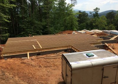 Lorenson-I beams for first floor being laid out-nemec-construction
